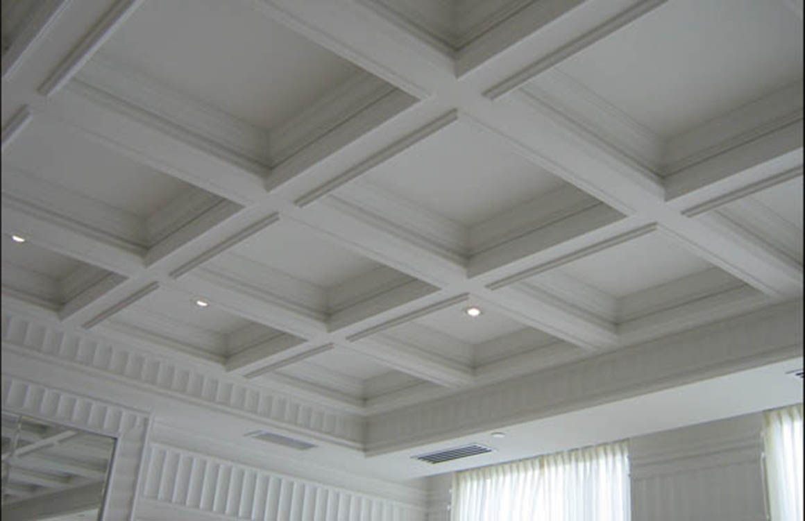 Interior trim moulding pvc window trim exterior cabinet for Foam coffered ceiling