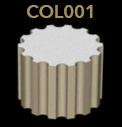 COL001 ribbed column