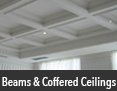 Beams and coffered ceilings