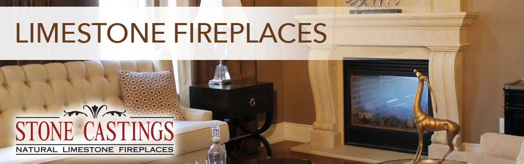 Stone Casting Natural Limestone Fireplaces