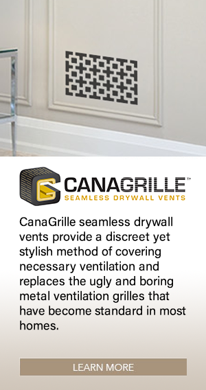 CANAGRILLE seamless drywall vents provide a discreet yet stylish method of covering necessary ventilation and replaces the ugly and boring metal ventilation grilles that have become standard in most homes.