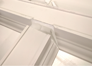 Instructions for joining beams for a coffered ceiling