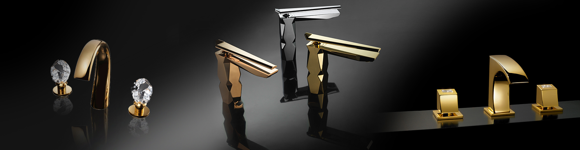 A collection of bathroom faucets